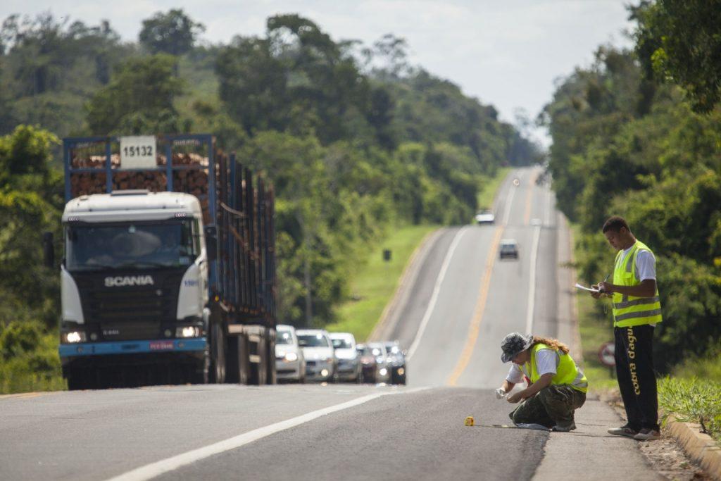 A rodovia BR-101 recorta a Reserva Biológica (Rebio) de Sooretama e é a principal ameaça à fauna silvestre da região. Foto: João Marcos Rosa.