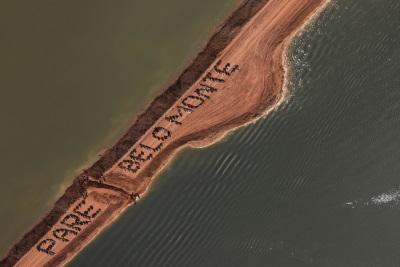 Pare Belo Monte. Foto: Divulgação/Movimento Xingu Vivo.
