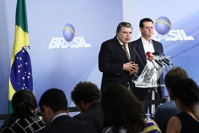 Coletiva com os ministros do Meio Ambiente e da Ciência e Tecnologia. Foto: Gilberto Soares/MMA.