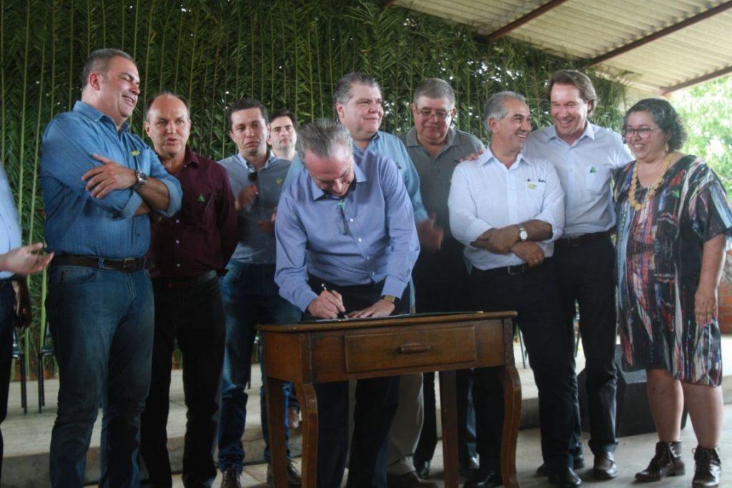 Temer assinou decreto em evento no Pantanal. Foto: Gilberto Soares/MMA.
