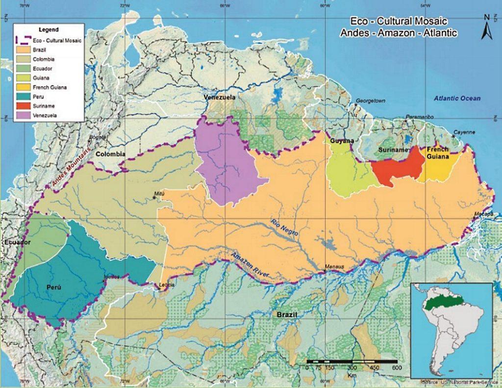 Mapa da proposta do corredor AAA. Imagem: Fundação Gaia Amazonas.