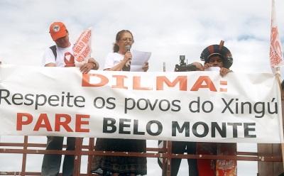 Protesto contra construção de Belo Monte. Foto: Divulgação.