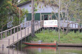 Base operacional da Floresta Nacional do Amapá. Foto: Rayssa Barros/Wikiparques.