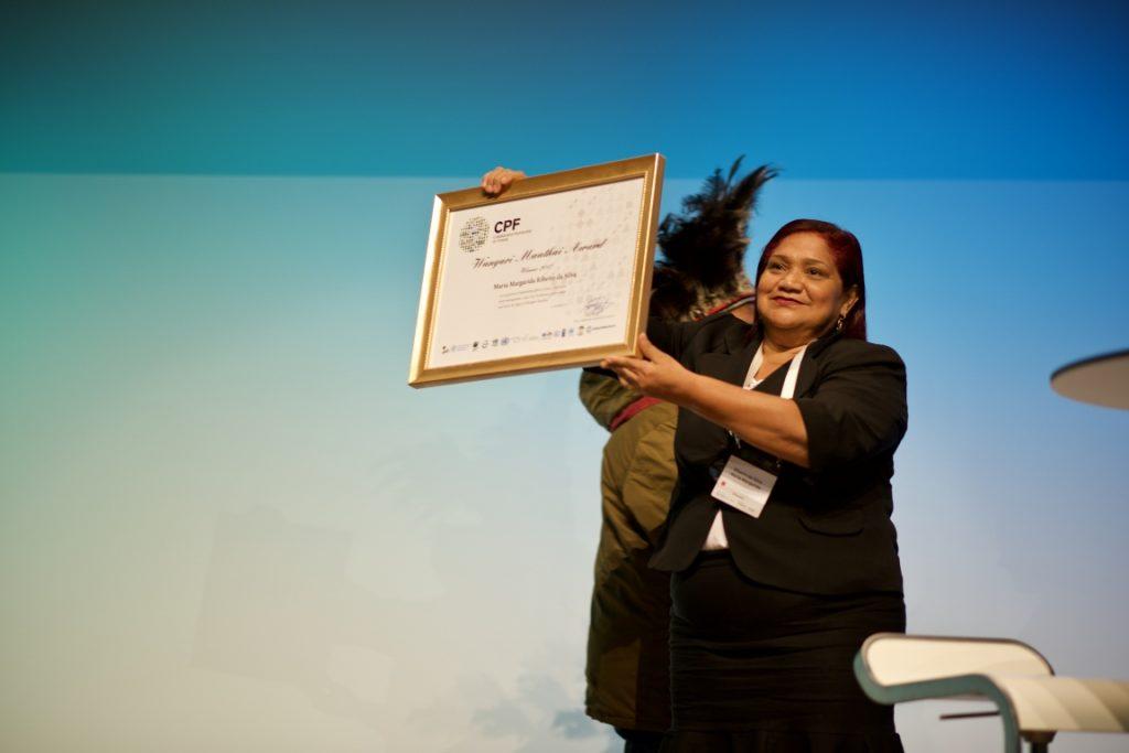 Margarida Ribeiro da Silva ganhou o prêmio Wangari Maathai Forest Champions. Crédito: Pilar Valbuena/Global Landscapes Forum.