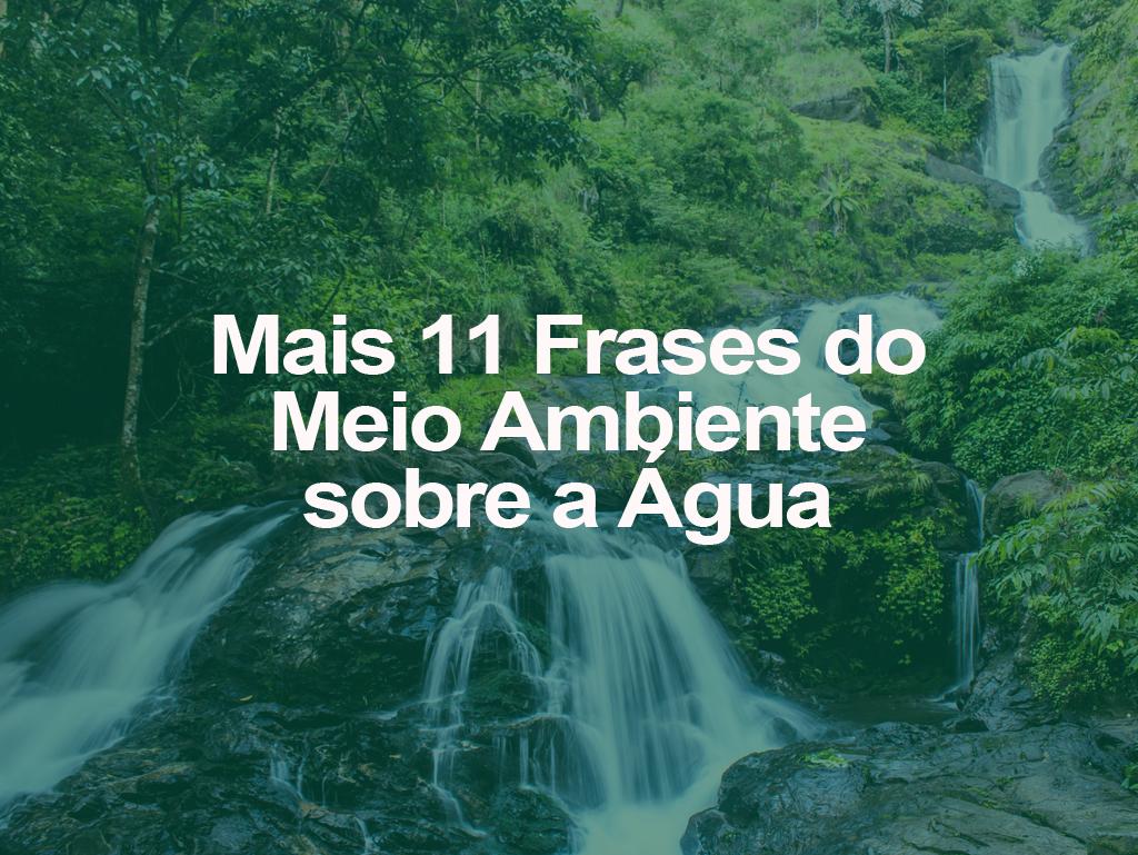 Mais 11 Frases Do Meio Ambiente Sobre A água Oeco