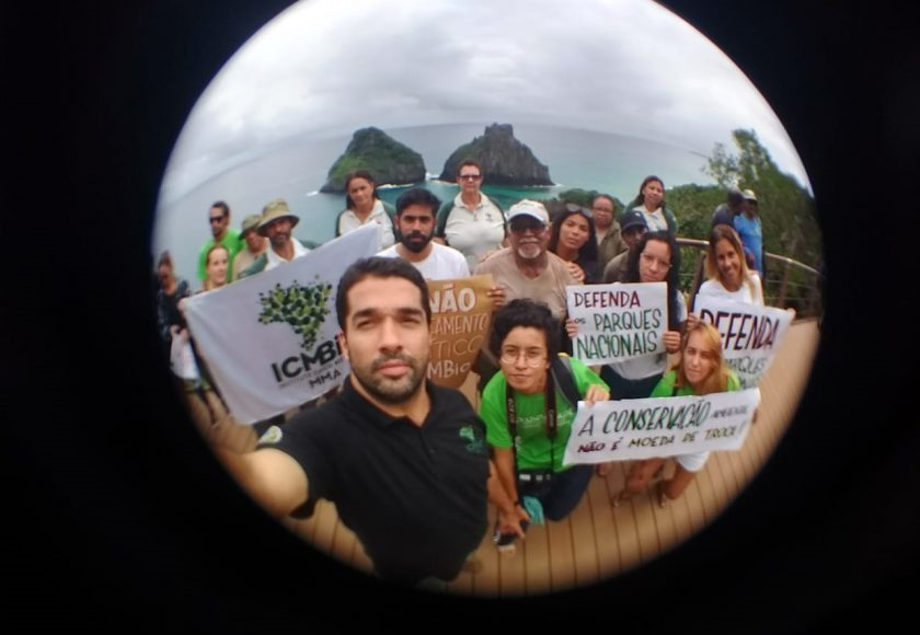 Servidores no Parque Nacional Marinho Fernando de Noronha. Foto: Divulgação