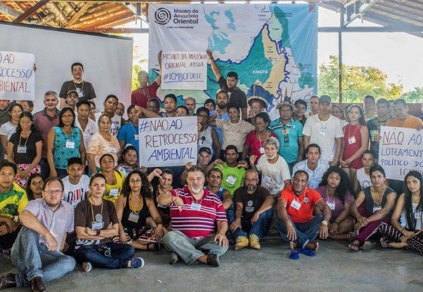 Conselheiros do Mosaico da Amazônia Oriental, reunidos em Macapá-AP, apoiam o Movimento Nacional de Resistência contra o Desmonte da Política Socioambiental. Foto: Divulgação