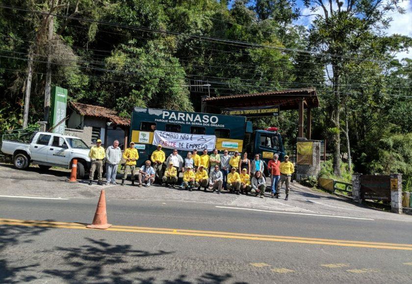 Protesto no Parque Nacional da Serra dos Órgãos. Foto: Divulgação
