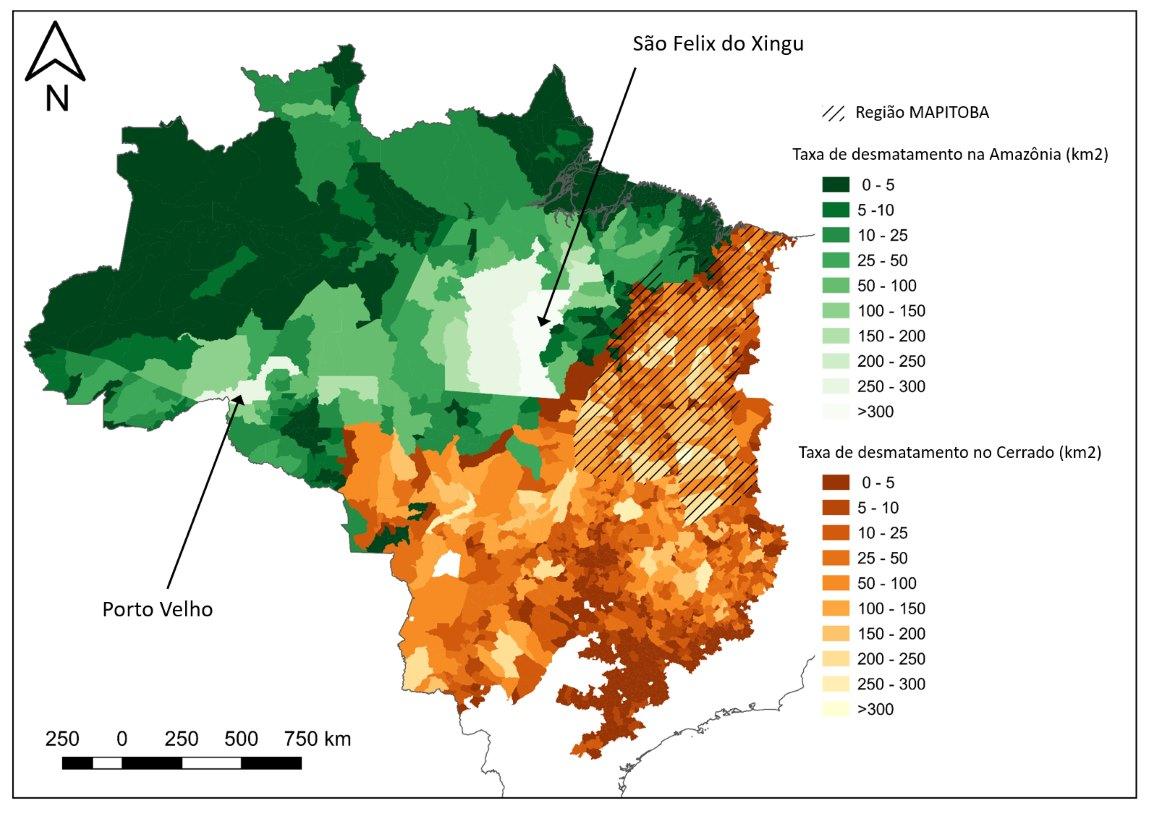 Artigo sugere soluções para controlar o desmatamento na Amazônia e no Cerrado