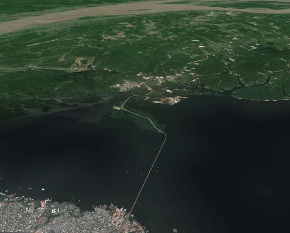 Satélites ajudam a visualizar impactos da Ponte do Rio Negro