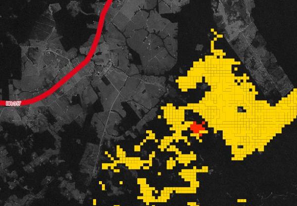 Interoceânica: pontos de desmatamento se multiplicam