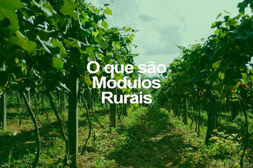 O que são módulos rurais