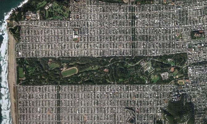 O verde das cidades visto do espaço