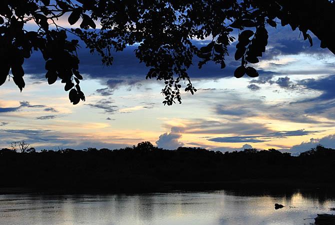 O fim de tarde na Ilha do Bananal