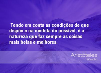 Frases Do Meio Ambiente Aristóteles Filósofo 070613 Oeco