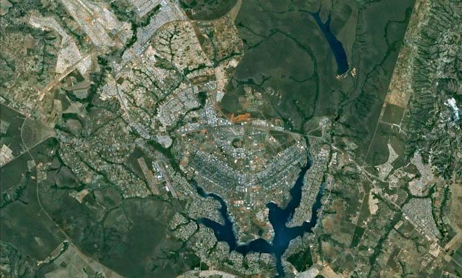 As capitais brasileiras vistas do espaço