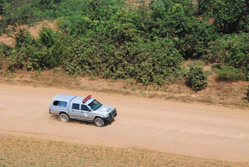 Aeronave informa as equipes em terra as melhores rotas para se chegar aos pontos suspeitos