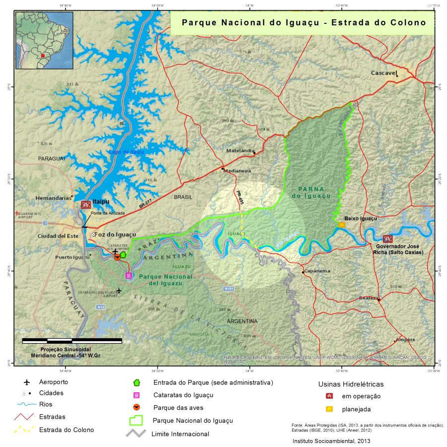 Reabertura da Estrada do Colono ameaça Iguaçu e lei do SNUC