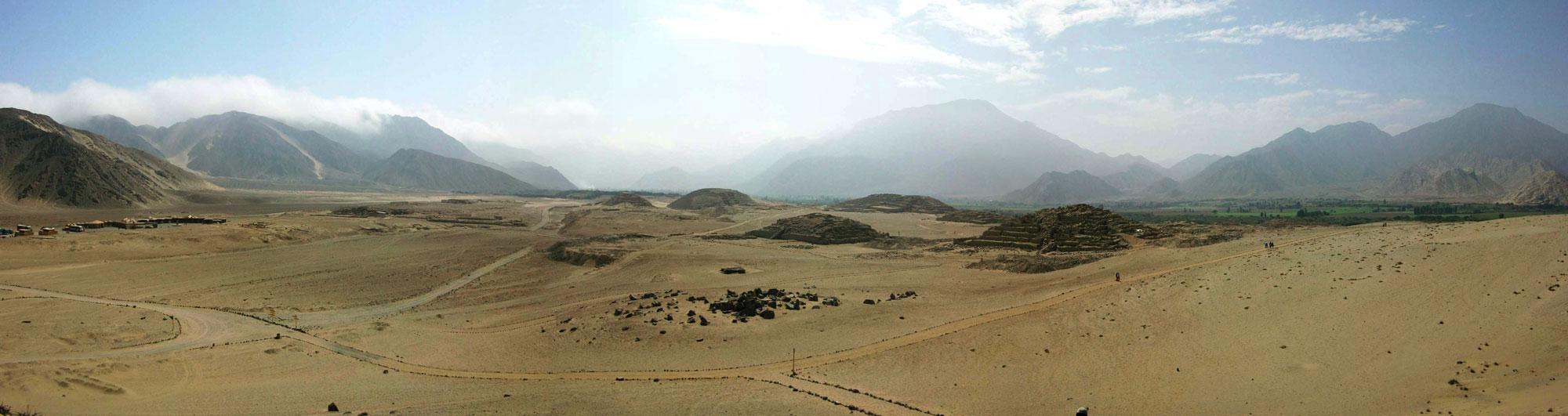 Panorâmica das ruínas de Caral, Peru. Foto: Edgar Marca / Flickr   Clique para ampliar.