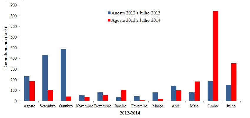 Desmatamento na Amazônia: Repique do ano passado deve se manter em 2014