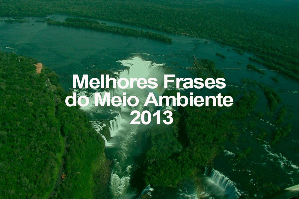 As Melhores Frases Do Meio Ambiente Em 2013 Oeco