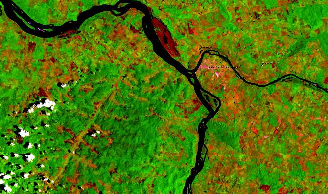 Quatro décadas de desmatamento