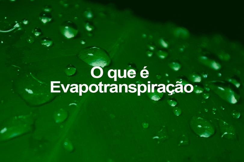 O que é Evapotranspiração